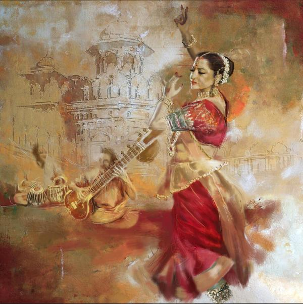 Indian Dance Art Paintings