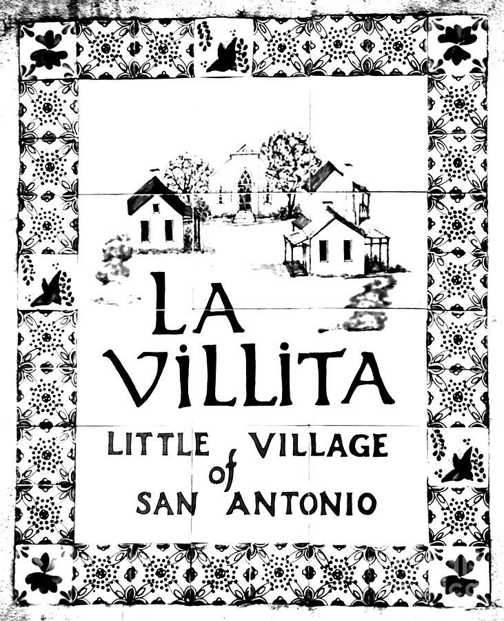 La Villita Tile Sign On The Riverwalk San Antonio Texas