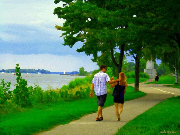 lachine canal summer scene romantic