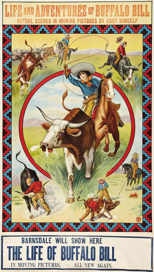 life of buffalo bill poster art 1912 by everett