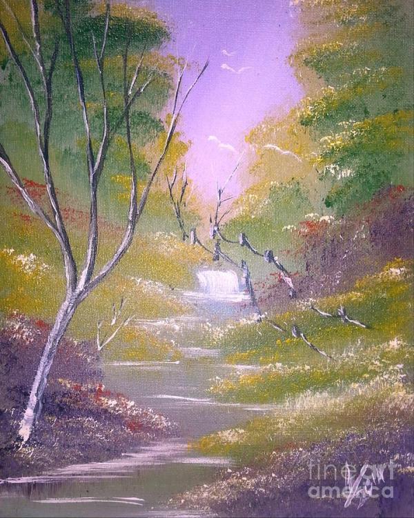 light vibrant landscape painting