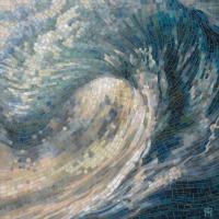 Light Wave Painting by Mia Tavonatti