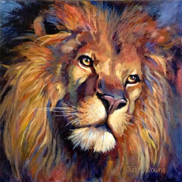 Lion Of Judah Painting Judy Downs