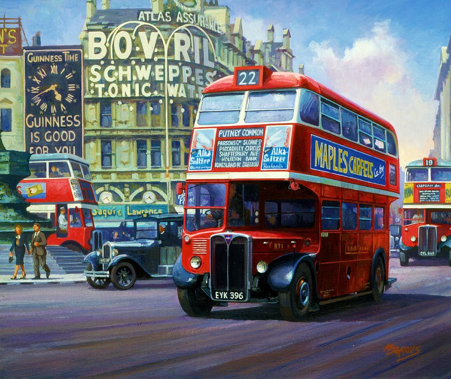 Painting of a bus