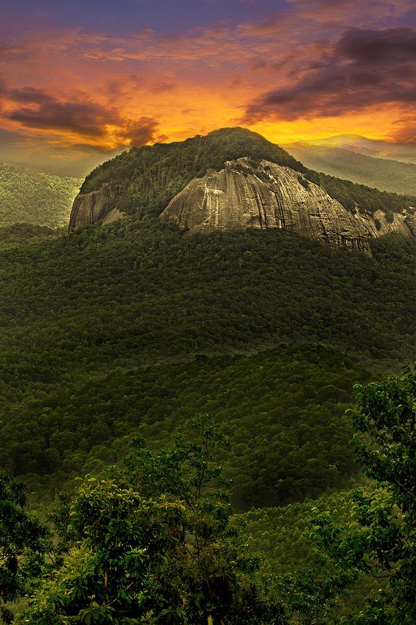 Looking Glass Rock North Carolina Photograph by Gray Artus
