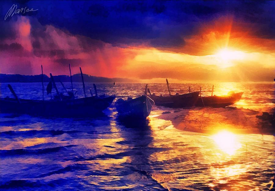 Iphone X Dimensions For Wallpaper 18 9 Magical Sunset Digital Art By Marina Likholat