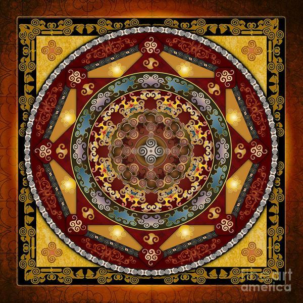 Mandala Oriental Bliss Digital Art Bedros Awak