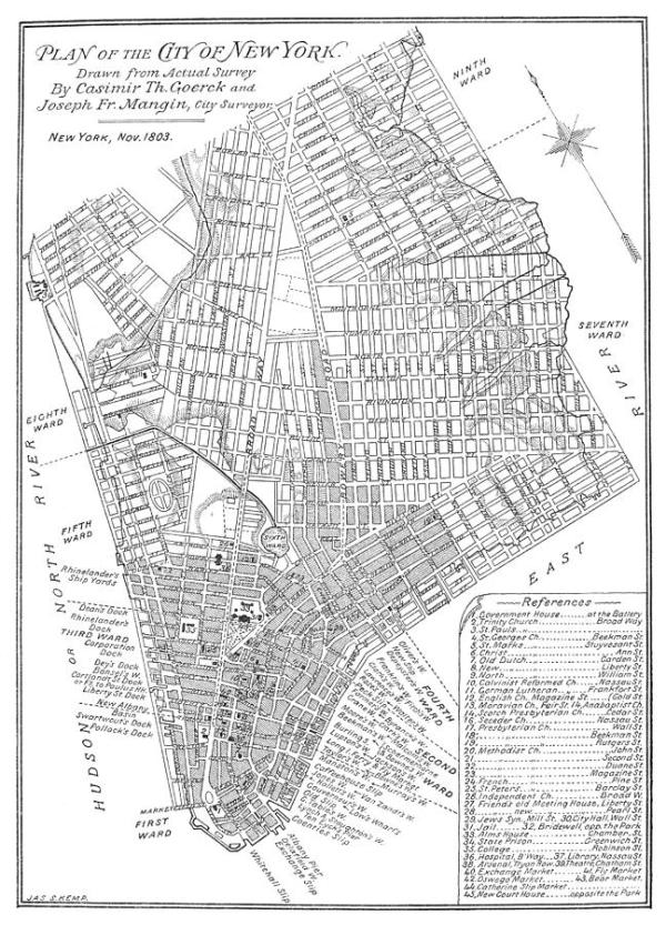 Map Of New York City 1803 Photograph by Granger