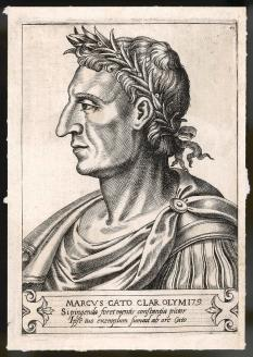 Cato Drawing - Marcus Porcius Cato (234-149 Bc), Roman by Mary Evans Picture Library