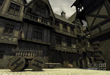Mediaeval or Fantasy Town 1 Digital Art by Fairy Fantasies