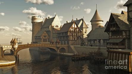 medieval docks digital fantasies fairy fantasy artwork march 1st piece which uploaded