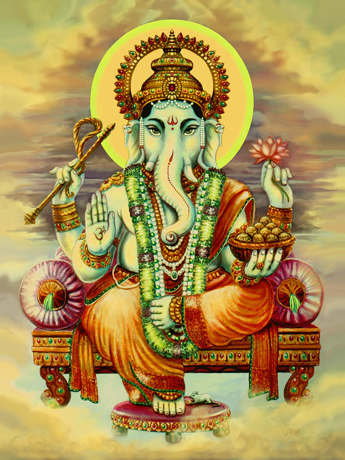 Maa Tara Wallpaper Hd Merciful Ganesha Painting By Svahha Devi