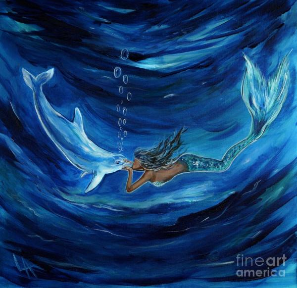 Dolphin Mermaid Paintings