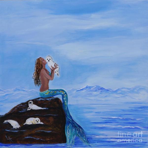 Leslie Allen Mermaid Paintings