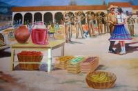 Mexican Restaurant Wall Mural Photograph by Vic Harris