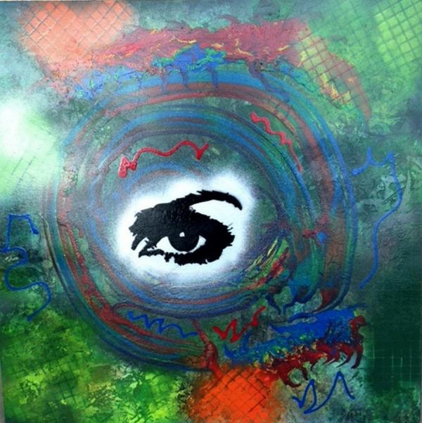 Mixed Media Abstract Post Modern Art Alfredo Garcia Eye