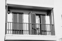 modern pvc sun shutter blinds on balcony doors and windows ...