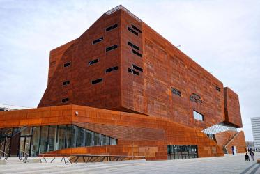 architecture modern vienna building rusty university menega photograph 26th uploaded march which