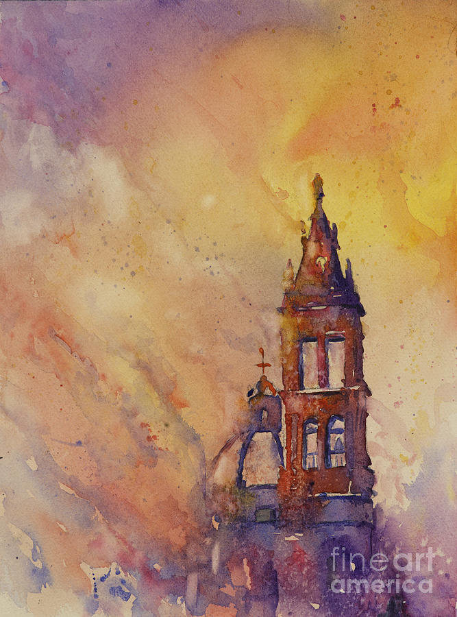 Morelia Cathedral Painting by Ryan Fox