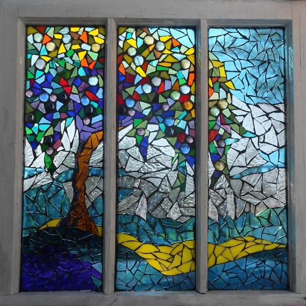 Mosaic Stained Glass - Summers' Colors Art