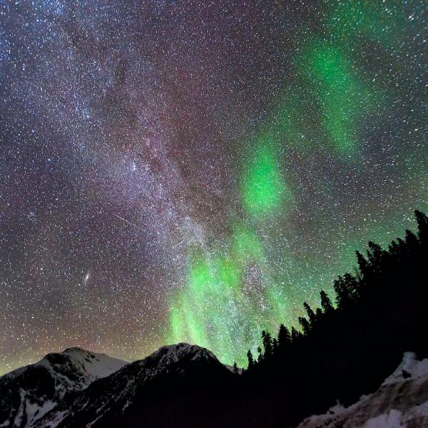 Mountain Aurora And Milky Lisa Hufnagel