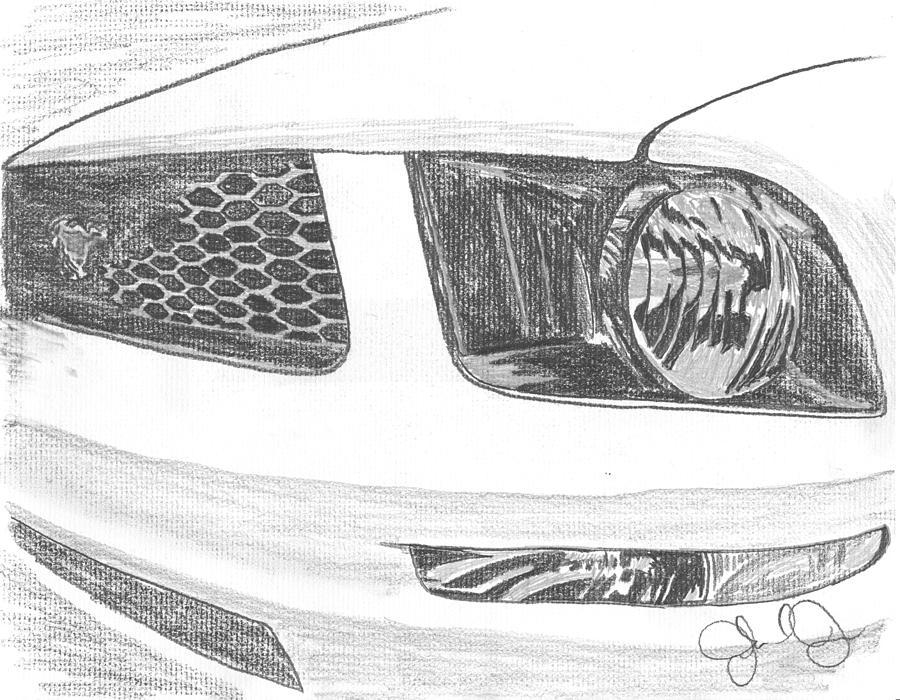 Mustang Drawing by John Jones