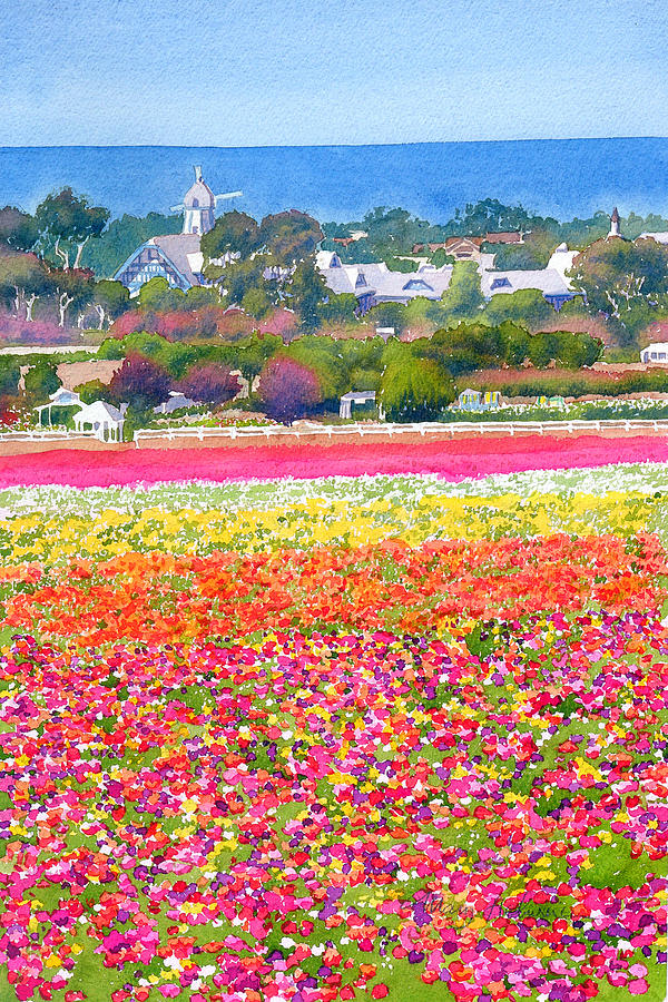 carlsbad flower fields painting