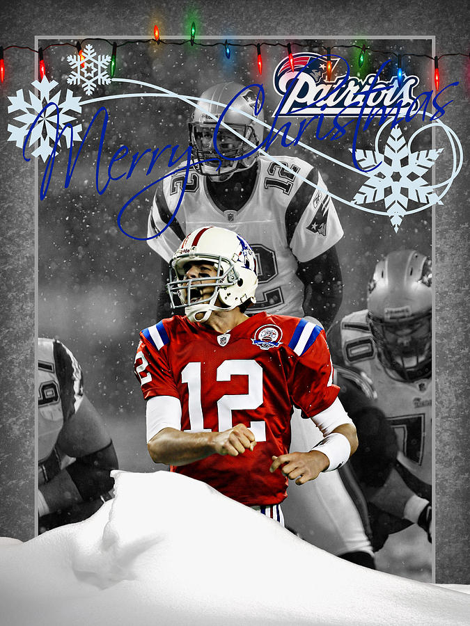 New England Patriots Christmas Card Photograph By Joe Hamilton