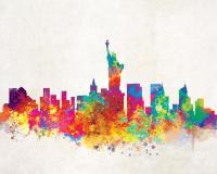 New York City Skyline Painting by Inkist Prints