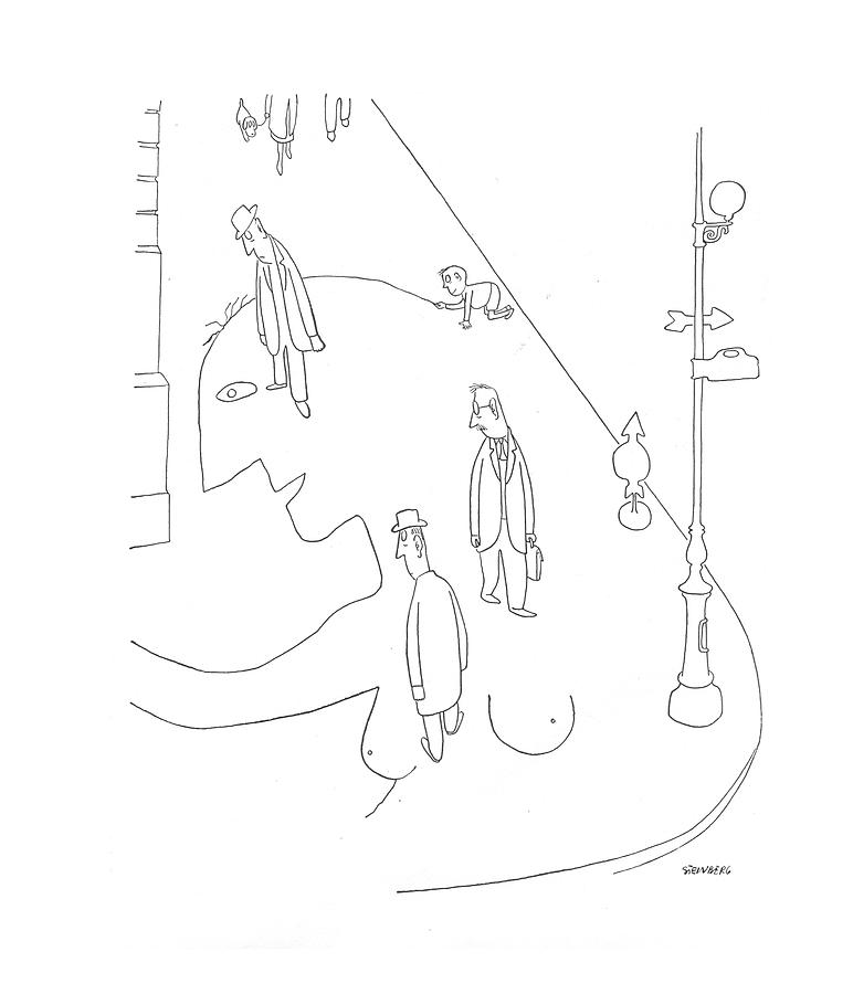 New Yorker May 22nd, 1943 by Saul Steinberg