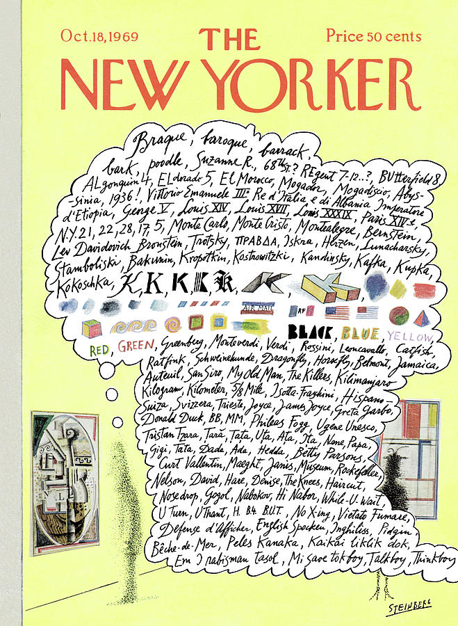 new yorker october 18th 1969 by saul steinberg