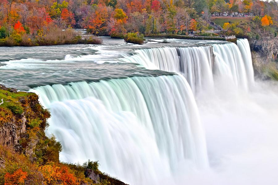 Fall Scenery Iphone Wallpaper Niagara Falls In Autumn Photograph By Frozen In Time Fine