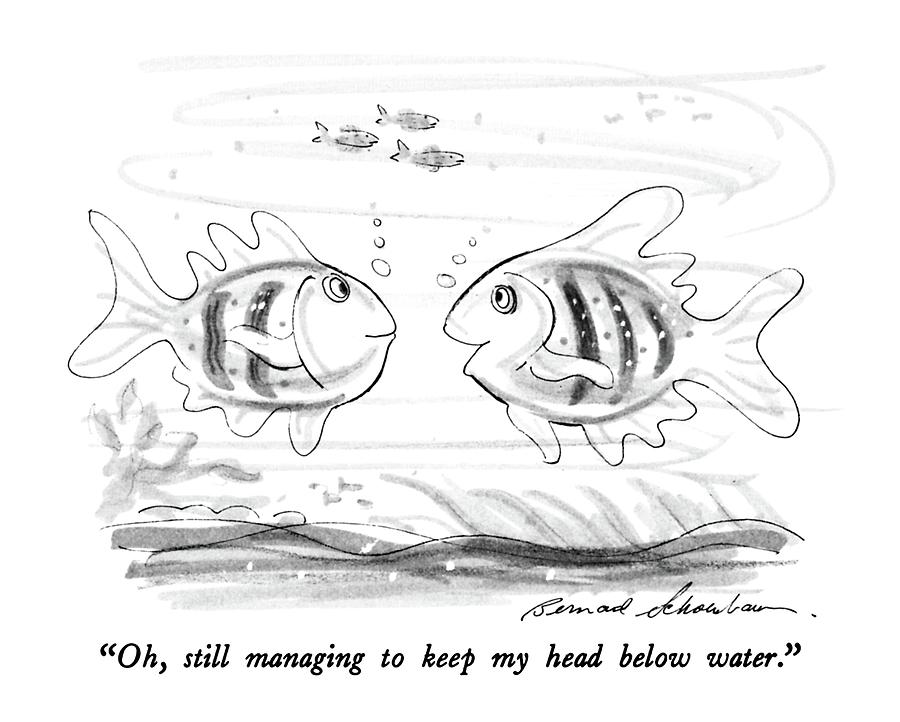 Oh, Still Managing To Keep My Head Below Water Drawing by