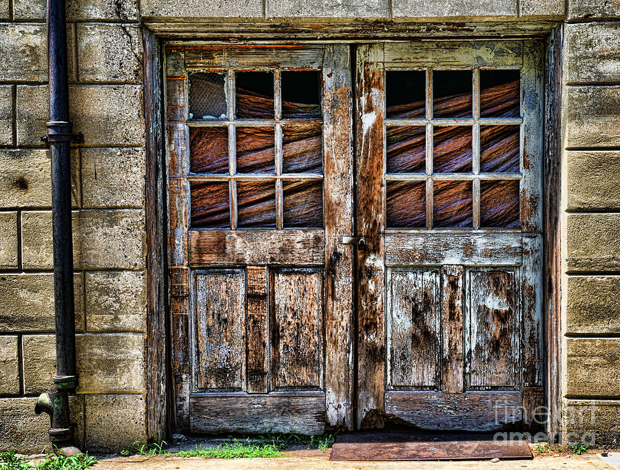 old weathered doors by