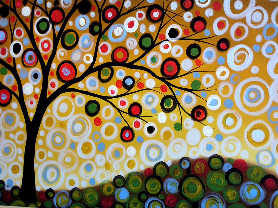 original abstract landscape tree