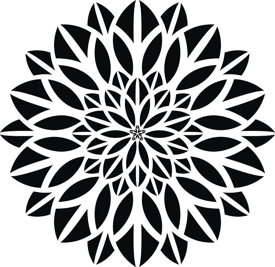Ornaments Mandala Floral Silhouette by Ahmed-Nassar