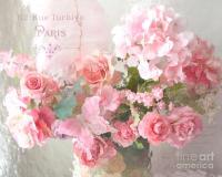 Paris Shabby Chic Dreamy Pink Peach Impressionistic ...