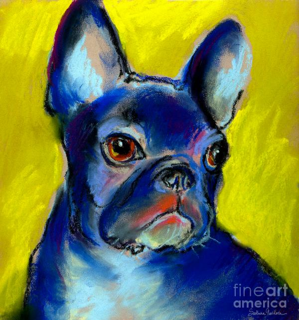 French Bulldog Portrait Painting