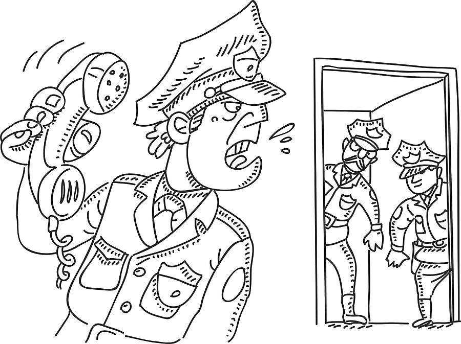 Police Station Drawing