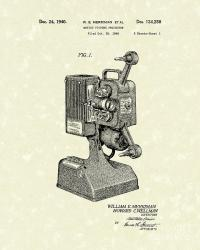 Projector 1941 Patent Art Drawing by Prior Art Design