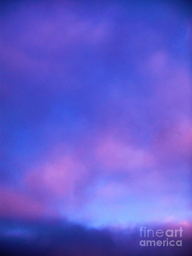 Purple And Blue Abstract Sky Photograph by Eric Schiabor