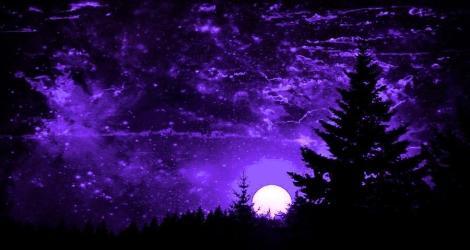 purple fantasy sunset sky sampson kathy digital artwork 22nd uploaded piece november which