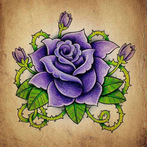 Purple Rose Samuel Whitton