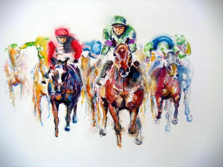 Racing Colors Thoroughbred Racehorse - Image Copyright FineArtAmerica.Com