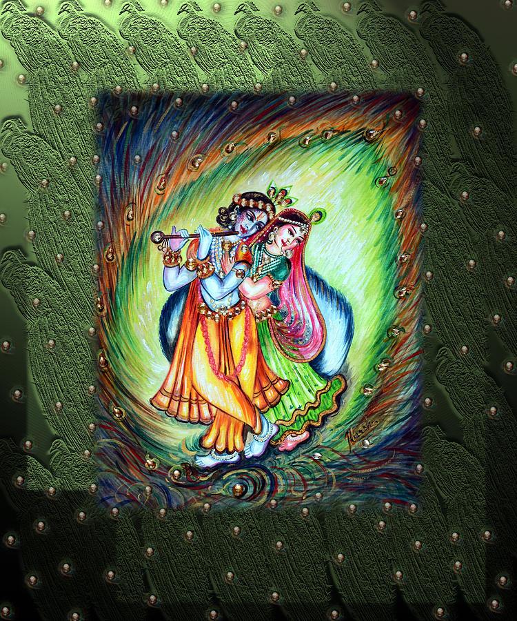 Romantic Love Painting For Radha Krishna Hd Wallpaper Radhe
