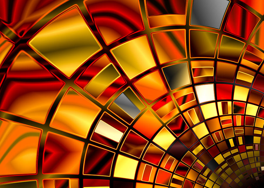 Red And Gold Digital Art by Hakon Soreide