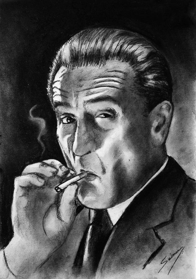 Al Capone Iphone Wallpaper Robert De Niro Drawing By Salman Ravish