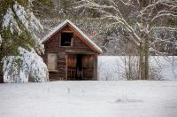 Rustic Shack In Snow Photograph by Jeff Folger