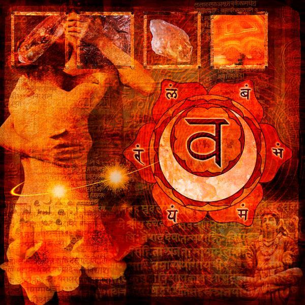 Sacral Chakra Digital Art Mark Preston