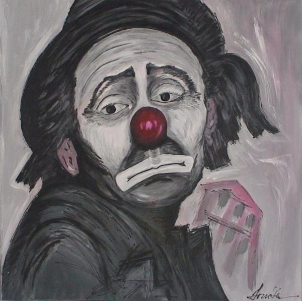 Sad Clown Painting Maia Oliver